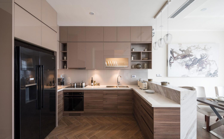 Nội thất phòng bếp Nhà liền kề The Manor Central Park