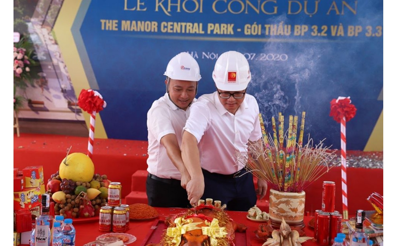 Hình ảnh lễ khởi công dự án The Manor Central Park giai đoạn 2