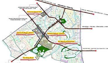 Bản đồ quy hoạch Phía Tây Nam Hà Nội