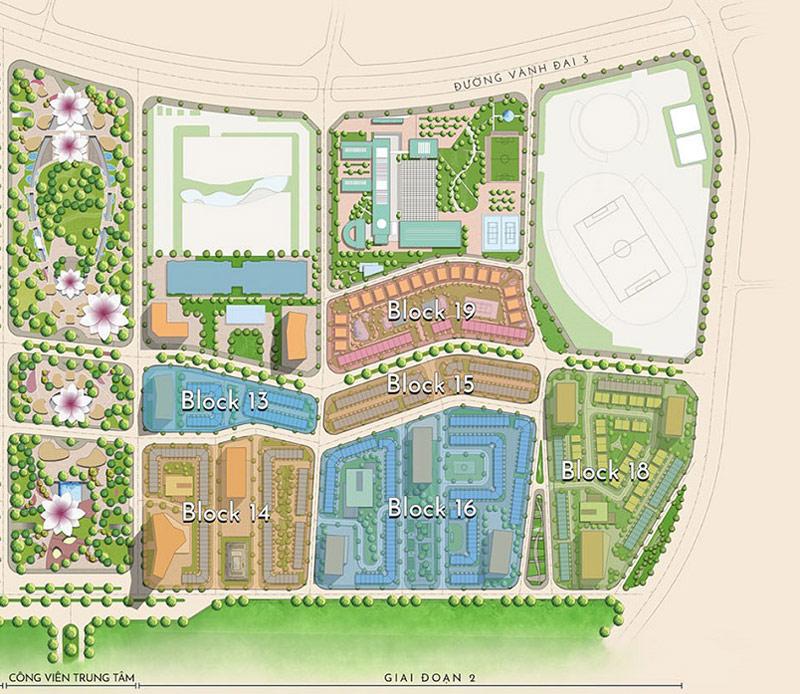 Mặt bằng tổng thể giai đoạn 2 dự án The Manor Central Park
