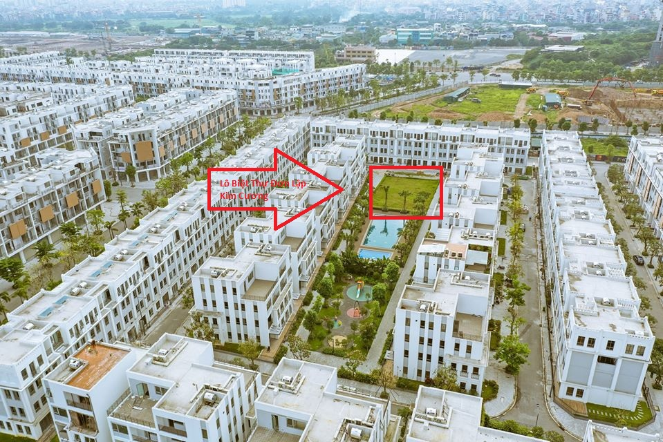 Vị trí lô biệt thự đơn lập Kim Cương Tại Block 4 dự án
