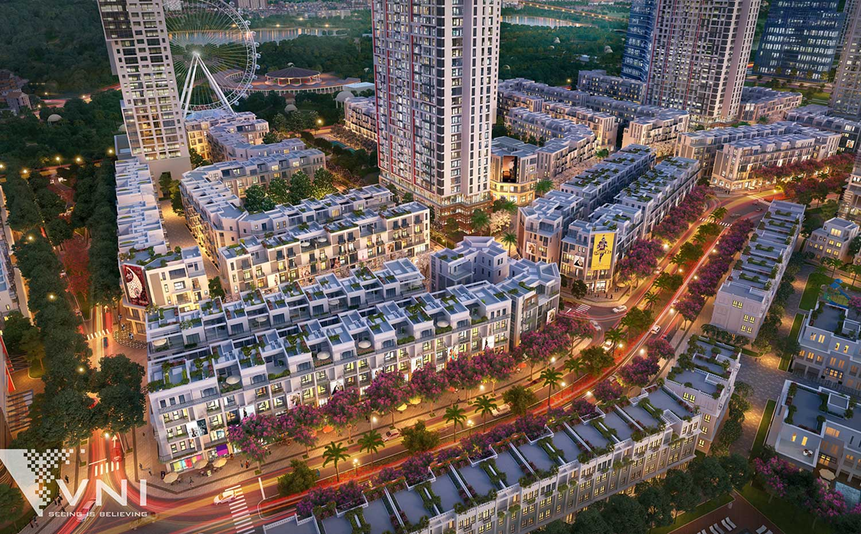 Phối cảnh Block 14 và 16 view công viên Chu Văn An