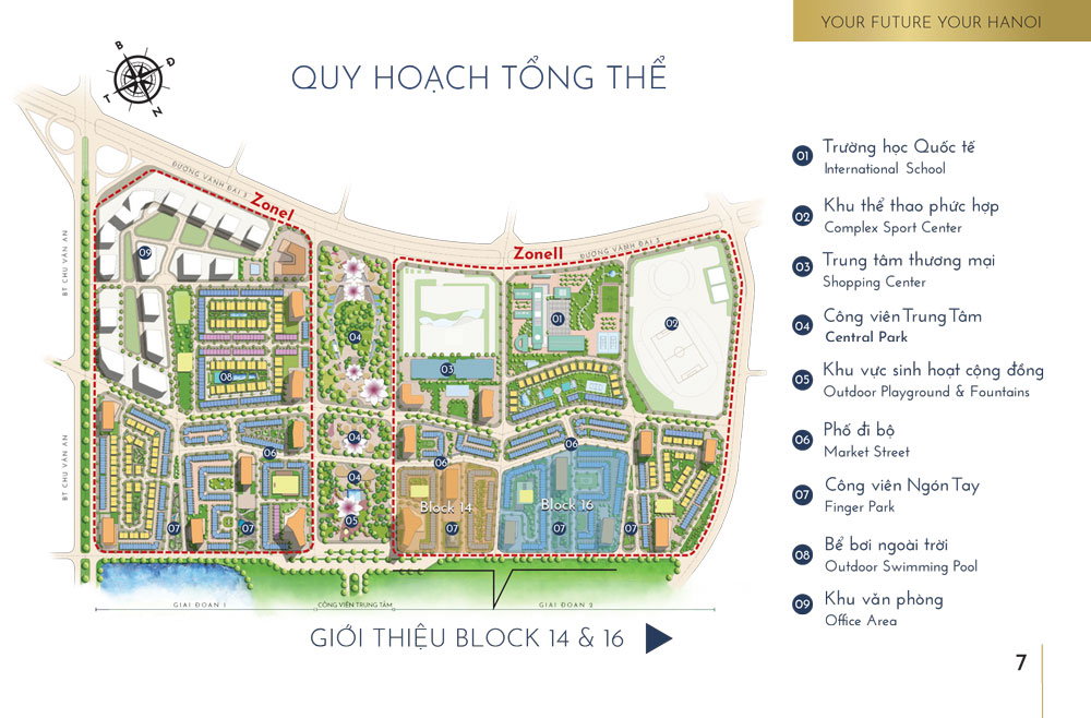 Quy hoạch tổng thể The Manor Central Park giai đoạn 2