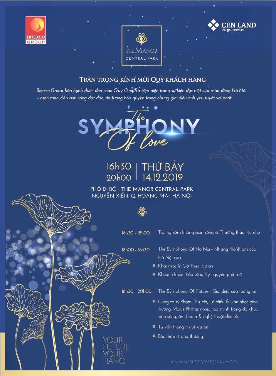 Sự kiện lễ hội ánh sáng THE SYMPHONY OF LOVE – Thứ 7 Ngày 14/12/2019
