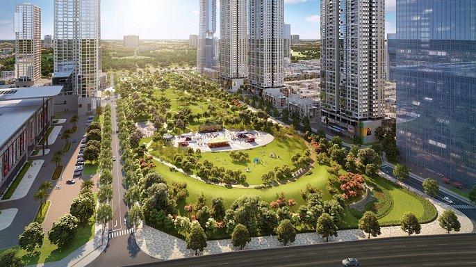 Phối cảnh công viên trung tâm dự án rộng 6,6 ha