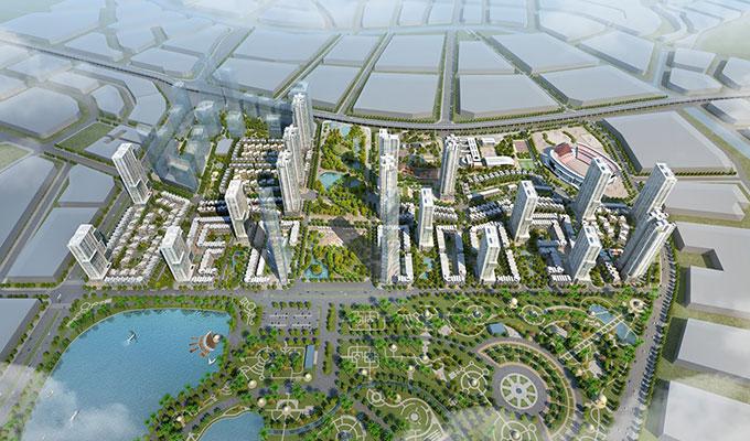 Phối cảnh tổng thể dự án The Manor Central Park - Nghiêm Xuân Yêm